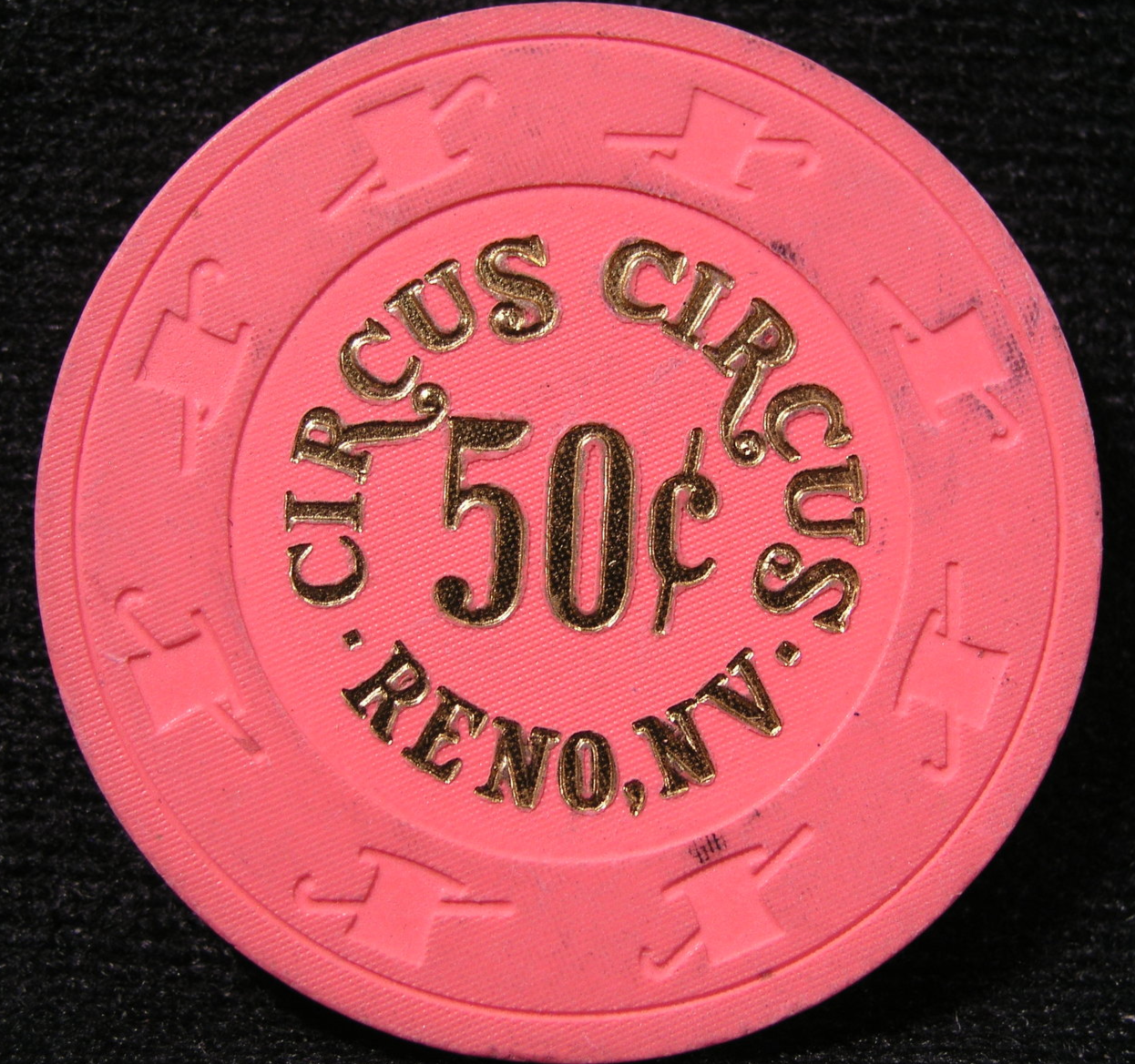 "Primary image for $0.50 Casino Chip From: ""Circus-Circus Hotel & Casino""- (sku#2387)"