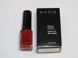 Avon Nail Art Enamel Reviving Red 6 ml 0.20 fl oz nail polish mani pedi;; - $10.88