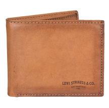 Men's Levi's RFID-Blocking Extra-Capacity Credit Card ID Tan Slimfold Wallet image 3