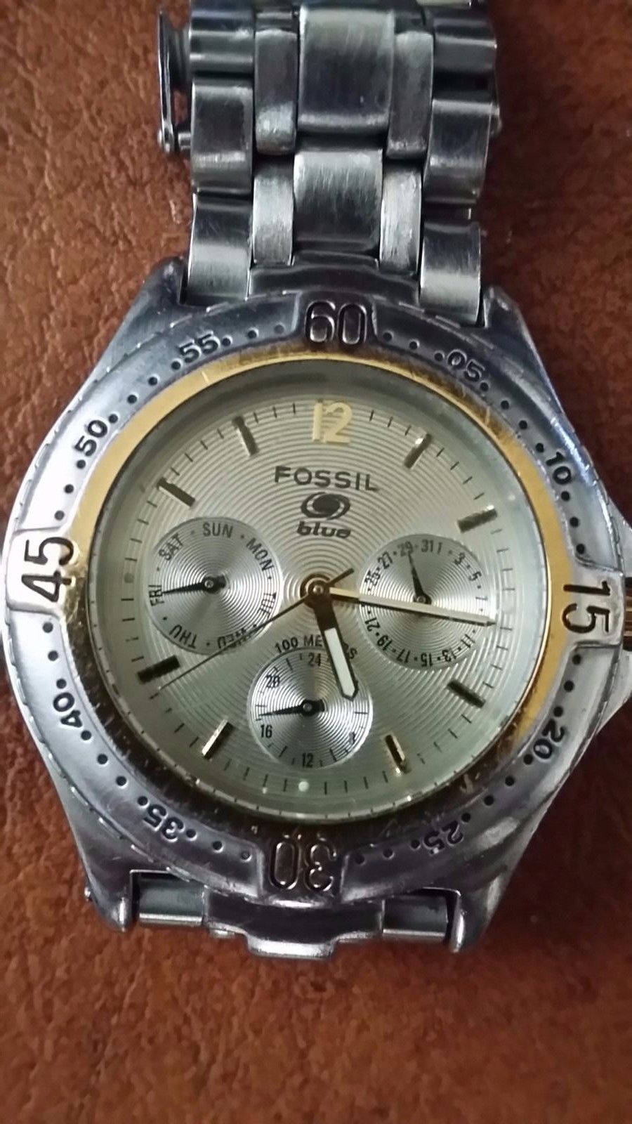 afc4d37660f8 FOSSIL Blue Stainless Steel Chronograph and 50 similar items. S l1600