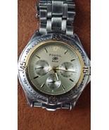 FOSSIL Blue Stainless Steel Chronograph watch slight wear runs great - $30.00