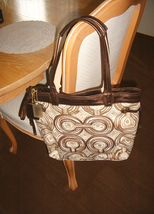NWT COACH BROWN SWIRLTOTE 17044/WRITSLET F45531/COIN PURSE image 1