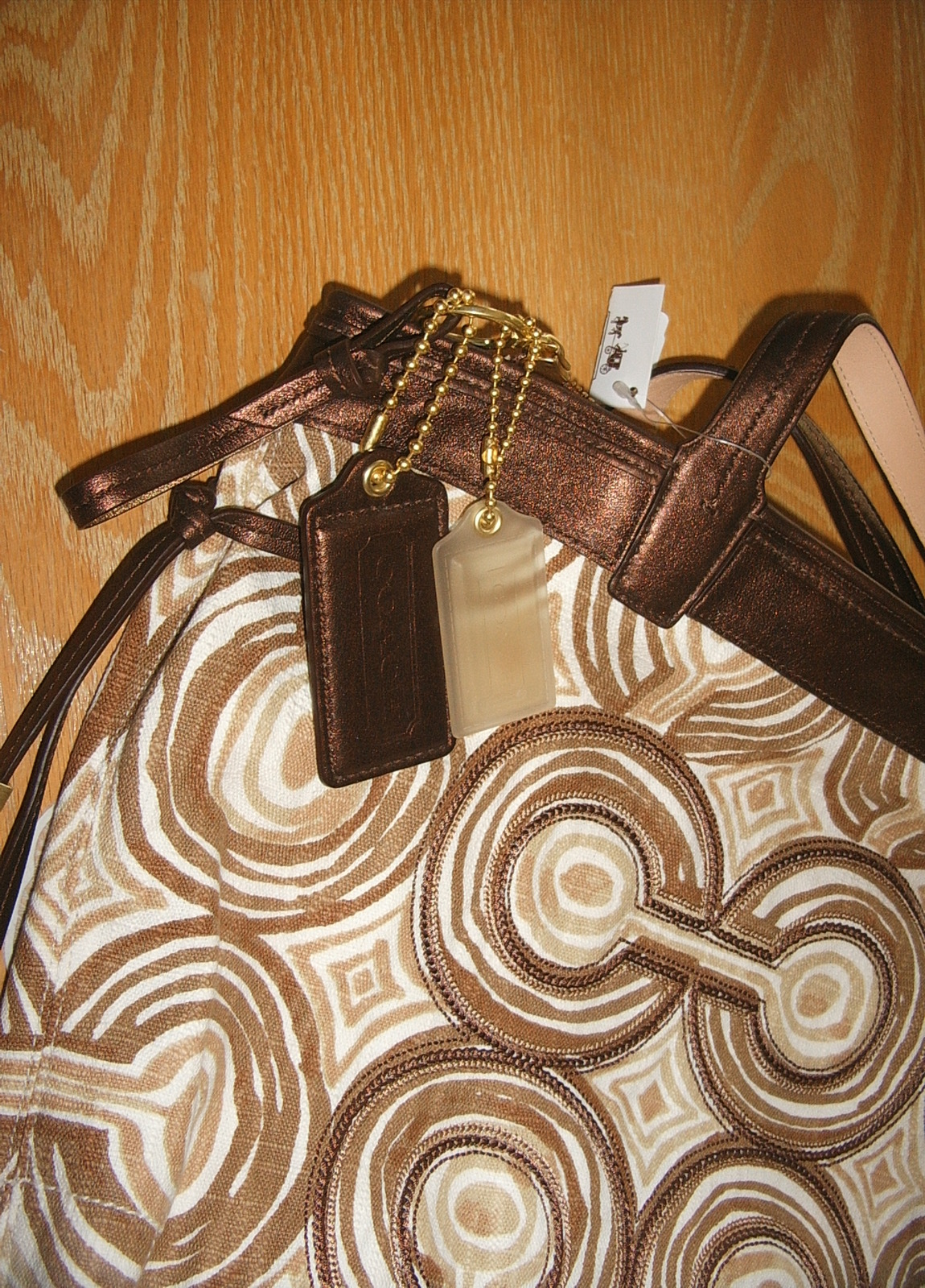 NWT COACH BROWN SWIRLTOTE 17044/WRITSLET F45531/COIN PURSE image 2