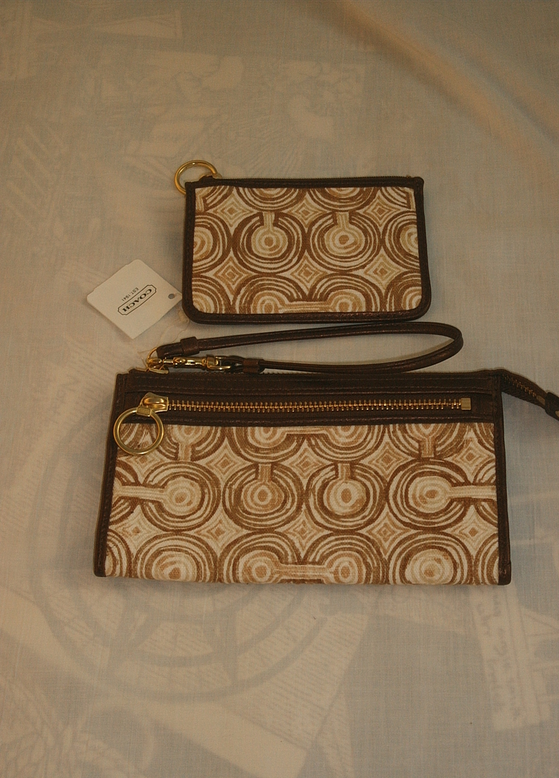 NWT COACH BROWN SWIRLTOTE 17044/WRITSLET F45531/COIN PURSE image 3