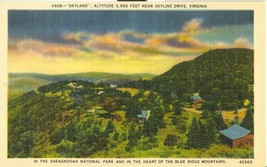 Skyland, near Skyline Drive, Virginia, unused linen Postcard  - $4.99