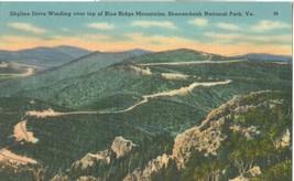 Skyline Drive Winding over top of Blue Ridge Mountains, Shenandoah Natio... - $7.99