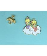 Two Angel Cherub Pins Costume Jewelry Precious Mements - $5.99