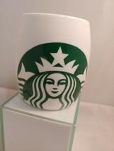 Starbucks Mug Mermaid 2010 Ceramic White Barrel Green Siren 14oz Cup - $17.59