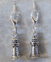 Ocean Theme 3D Lighthouse Handcrafted Convertible Earrings Zipper Clippe... - $9.99