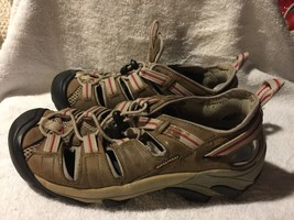 Used/Worn Keen Womens size 7.5 Waterproof Sandals Brown - $29.69