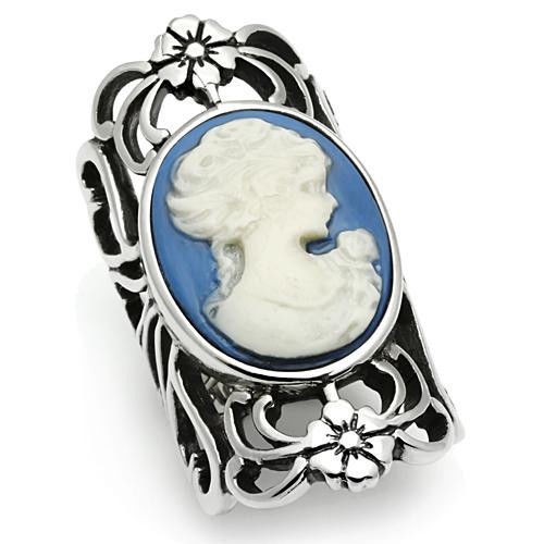 Primary image for Stainless Steel Cameo Fashion Ring, High Polished, No Coating, Size 5,6,7,8,9,10
