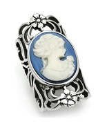 Stainless Steel Cameo Fashion Ring, High Polished, No Coating, Size 5,6,... - $26.99