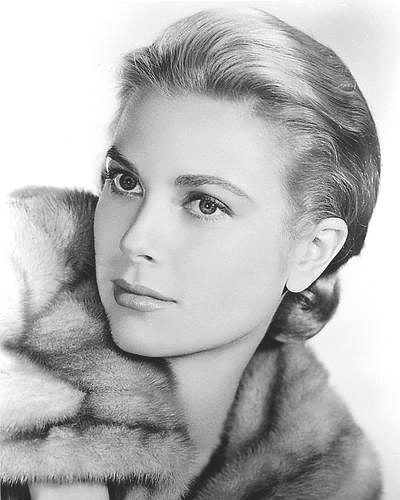 Grace kelly poster 24x36 headshot with fur