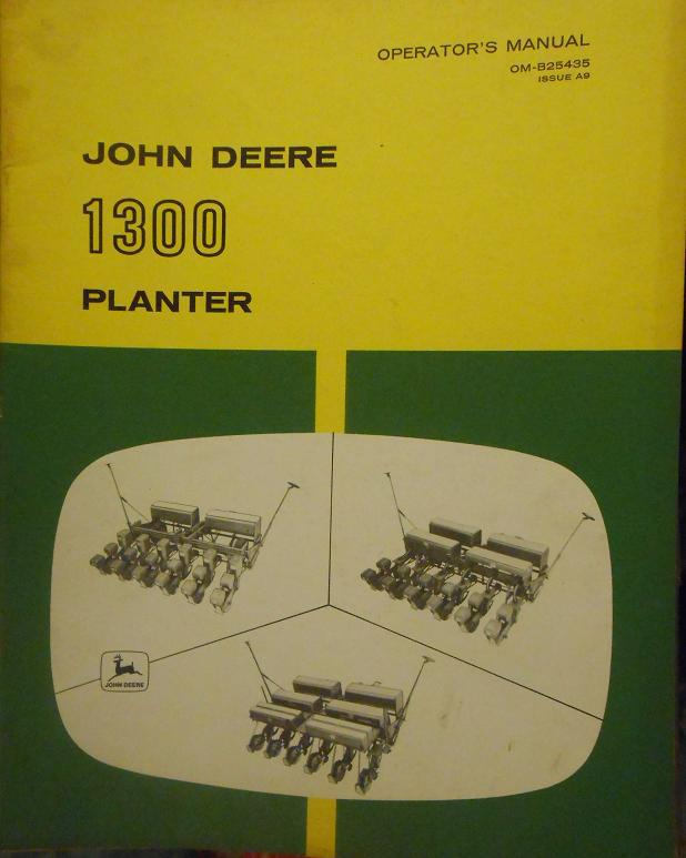 John Deere 1300 Planter 4, 6, 8-Row Operator's Manual