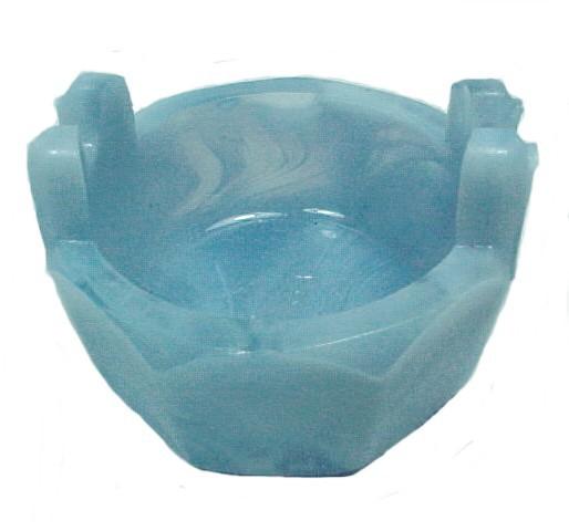86173a open salt dip cellar blue white slag glass wash tub boyd