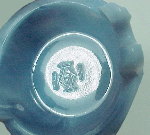 Wash Bucket Tub Open Salt Dip Cellar Dish Blue Slag Art Glass Mill Surprise New