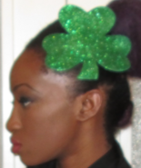 st patricks day green glitter burlesque shamroc... - $24.99