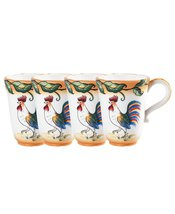 Fitz and Floyd Ricamo Portofino Mug, Set of 4 NIB  - $54.99