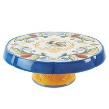Fitz and Floyd Ricamo Cake Stand or Chip and Dip NIB   - $50.00