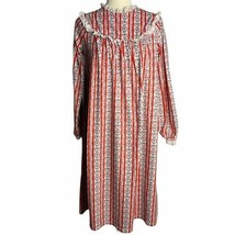 Vintage Lanz Flannel Nightgown Pajamas Girls XL 14-16 PJs Floral Hearts ... - $51.25