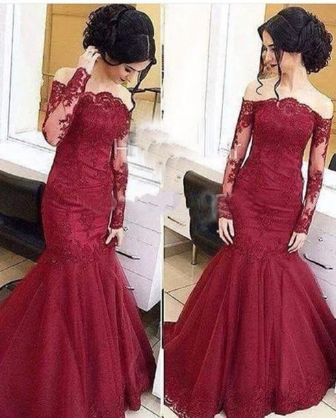 Iyxtkf l 610x610 dress lace soulder mermaid trumpet