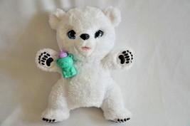 Fur Real Snifflin' Sawyer Interactive Polar Bear 2016 Hasbro Good Condition - $6.44