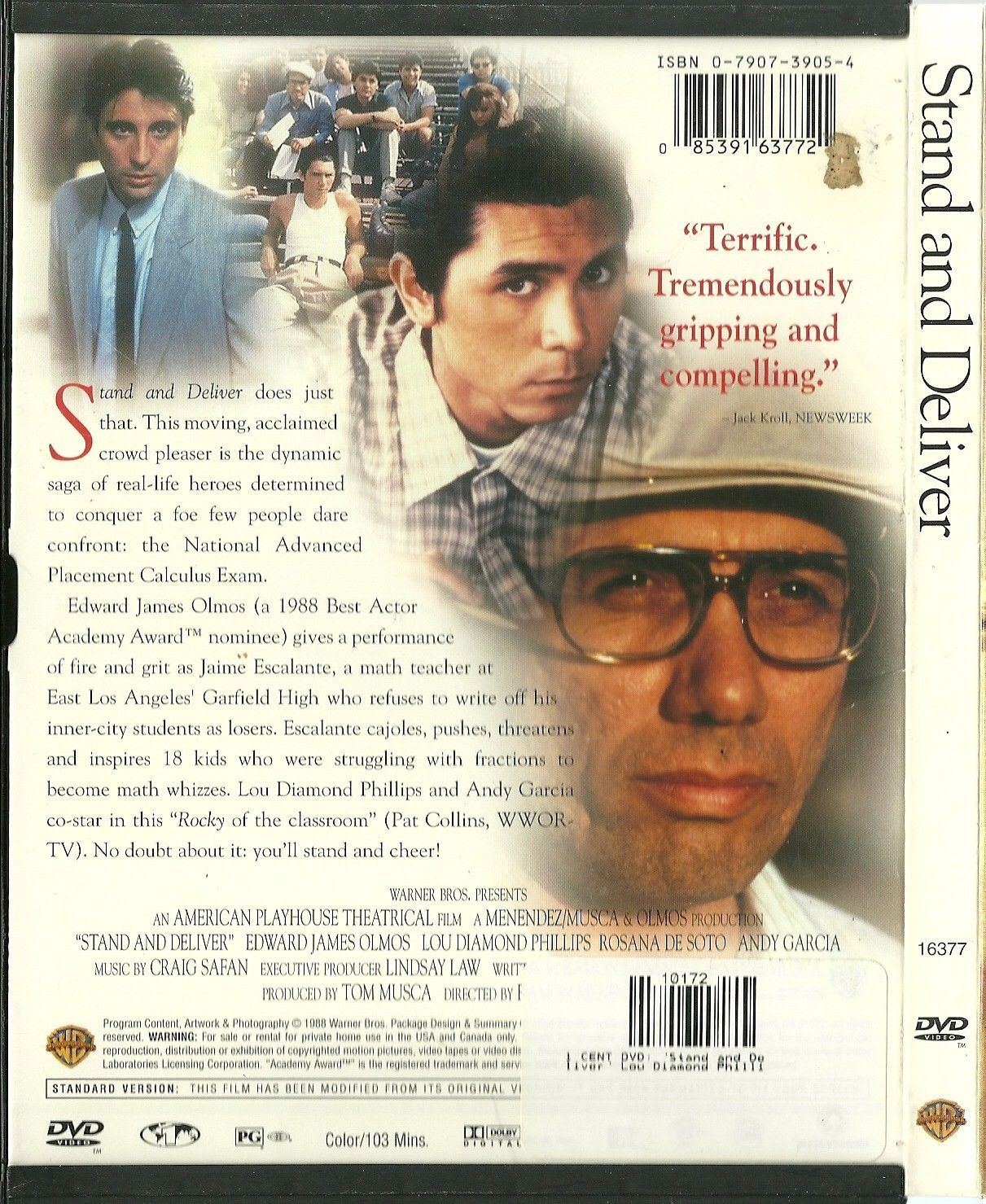 Stand And Deliver DVD Andy Garcia Edward James Olmos - DVD ...