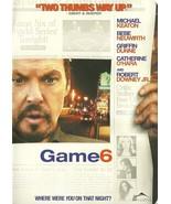 Game 6 DVD Michael Keaton Robert Downey Jr. - $2.98