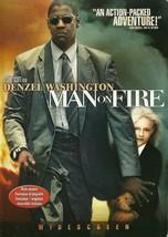 Man On Fire DVD Denzel Washington Dakota Fanning Christopher Walken Wide... - $2.99