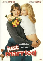Just Married DVD Ashton Kutcher Brittany Murphy Full Screen and Widescreen - $2.99