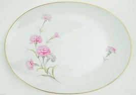 Royal Court Fine China Carnation Oval Serving Platter Japan Floral Flowe... - $22.49