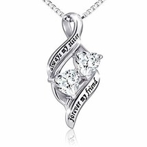 925 Sterling Silver Always My Sister/Daughter Forever My Friend Double L... - $25.98