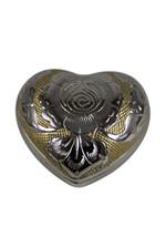 Mini Size Golden Rose Heart Keepsake Urn With Velvet Box - $55.44