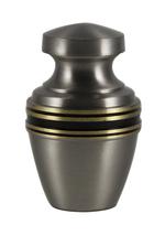 Classic Pewter Brass Keepsake Cremation Urn - Engravable - $45.00