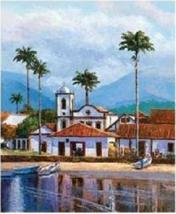 REFLECTIONS Spanish Mission Art Print Lithograph COA - $29.99