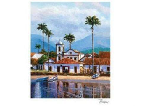 REFLECTIONS Spanish Mission Art Print Lithograph COA