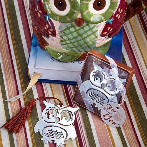 Owl Design Happy Wise Bookmark Wedding Baby Bridal Shower Favors Party Reception