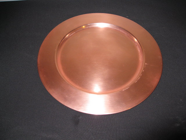 Vintage Copper Charger Plate