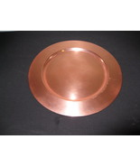 Vintage Copper Charger Plate - $15.00