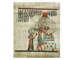Egyptian pharoah akhenaton and his queen worship sun   smaller thumb155 crop