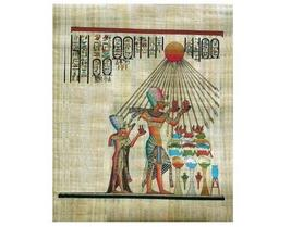 Egyptian pharoah akhenaton and his queen worship sun   smaller thumb200