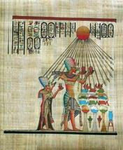Egyptian pharoah akhenaton and his queen worship sun thumb200