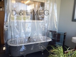 Clawfoot Tub shower Curtain Clear Less Magnets - $38.97