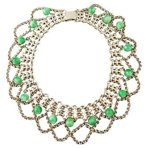 Napier Faux-Jade Runway Couture Festoon Necklace 1950s - $210.00