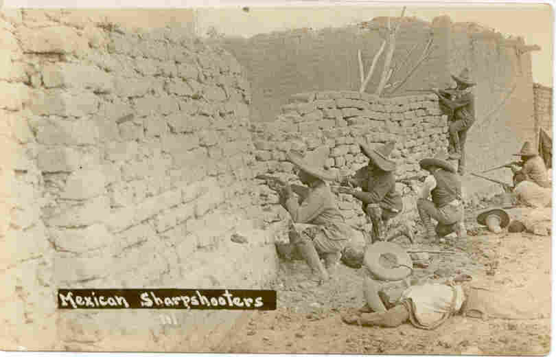 Mexican Revolution Sharpshooters Circa 1915 Post Card