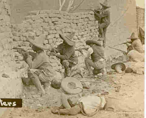 Mexican Revolution Sharpshooters Circa 1915 Post Card image 2