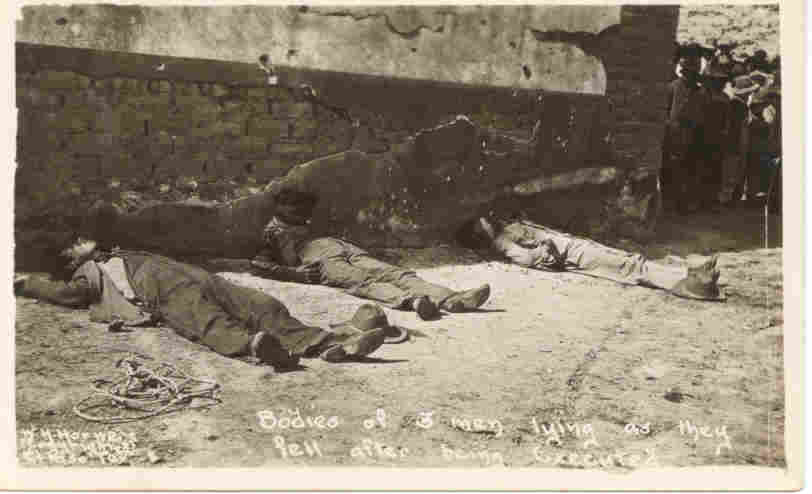 Firing Squad Execution Mexican Revolution 1915 Post Card