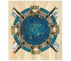 EGYPT ZODIAC CALENDAR Fine Art Egyptian Papyrus - $29.99