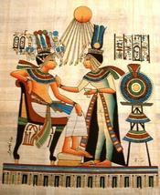 Egyptian pharoah sitting queen   aten thumb200