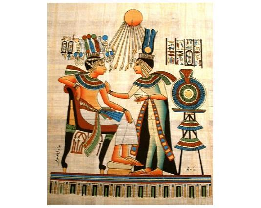 Egyptian pharoah sitting queen   aten   smaller